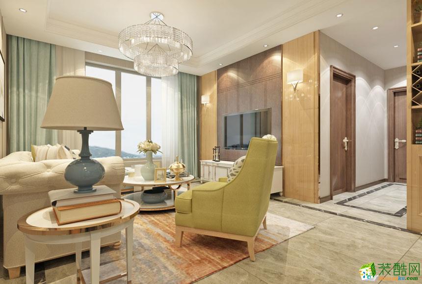 延安城市风光装饰-现代简约三室装修效果图