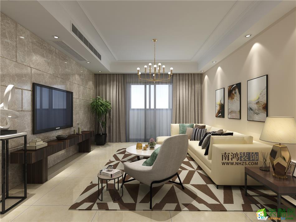 南鸿装饰―伊萨卡118方三室两厅现代风格装修效果图