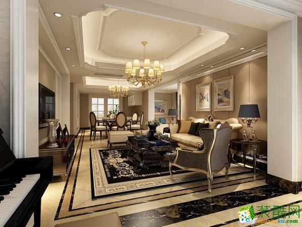 杭州龙发装饰—雍熙山210方简欧风格跃层住宅装修效果图