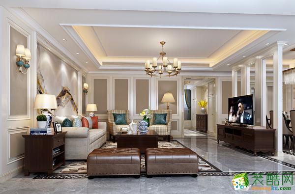 杭州龙发装饰―东方福邸200方美式风格精装别墅