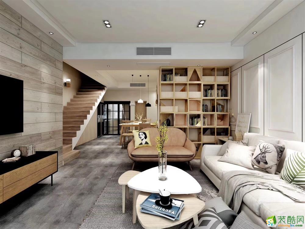 >> 万科缇香郡215平米欧式风格跃层住宅装修效果图--唐卡装饰