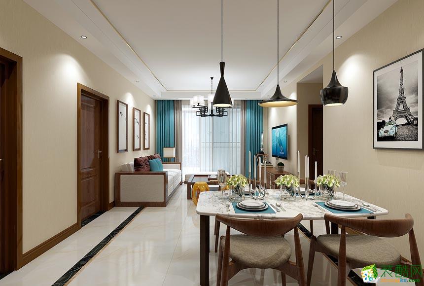 新余美佳装饰-现代简约两居室装修效果图
