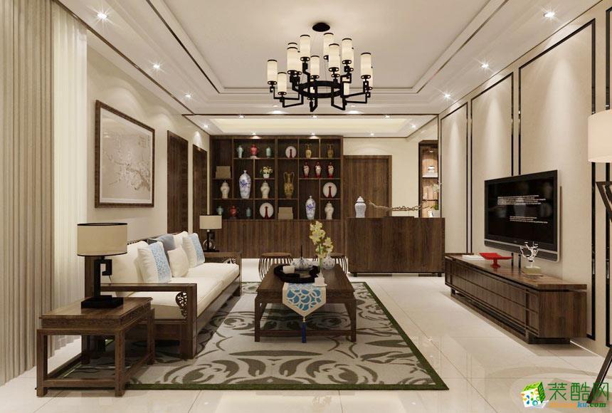 家装e站-新中式三居室装修效果图