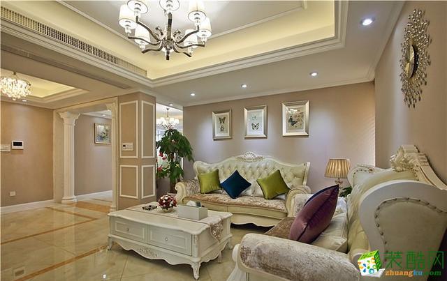 欧式风格137平米四室两厅装修效果图--川豪装饰