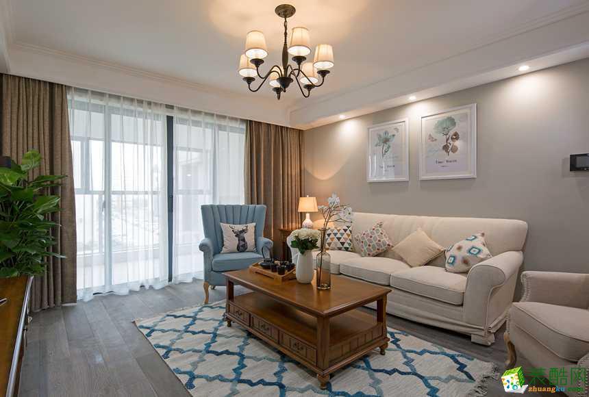 南阳紫名都装饰-美式三室装修效果图