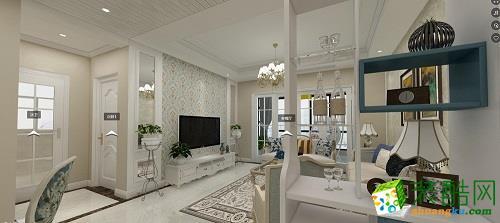 简欧风格128平米三室两厅装修效果图--川豪装饰