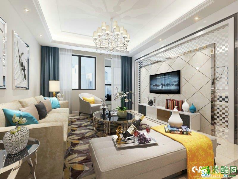 北欧风格120平米三室两厅装修实景案例图--川豪装饰