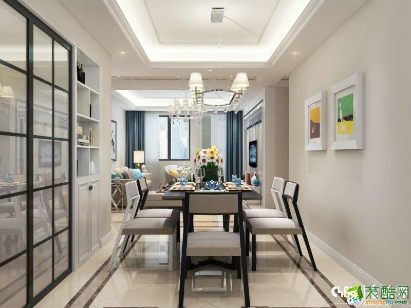 >> 北欧风格120平米三室两厅装修实景案例图--川豪装饰