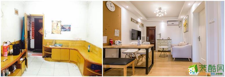 喜雀装饰翻新―下宁巷65�O旧房翻新前后对比