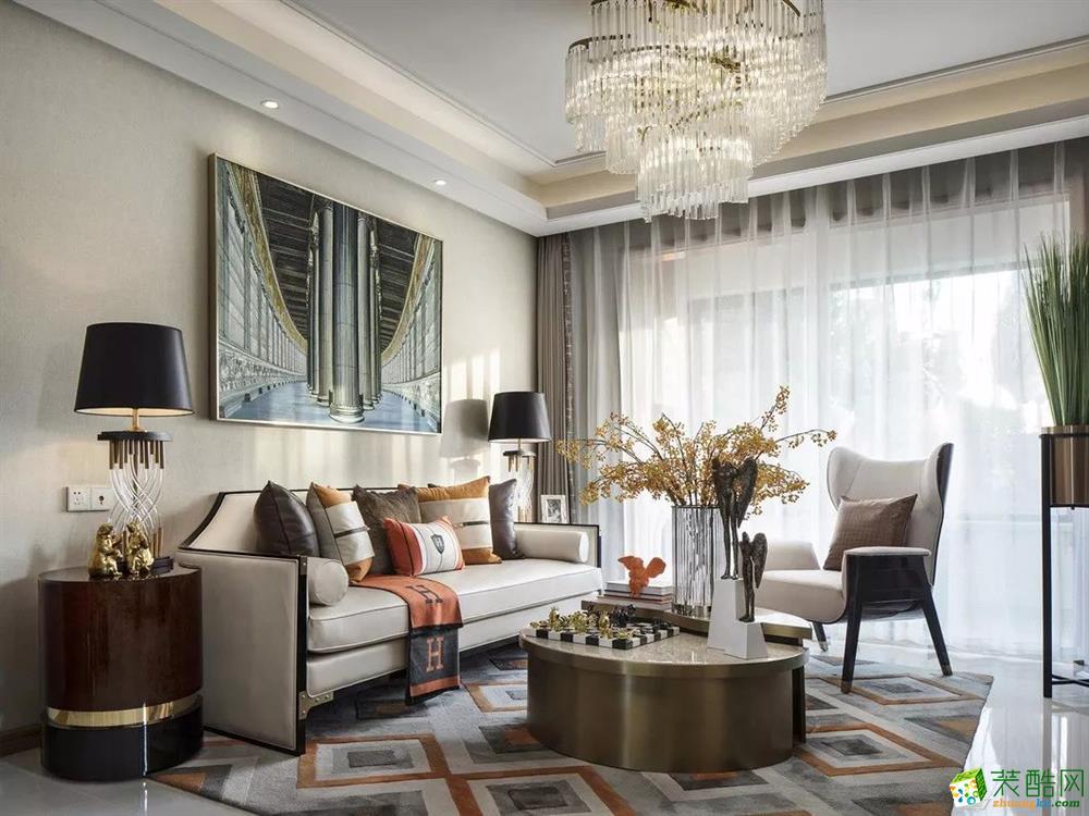 杭州维品国际设计―110�O欧式风格三居室装修设计效果图