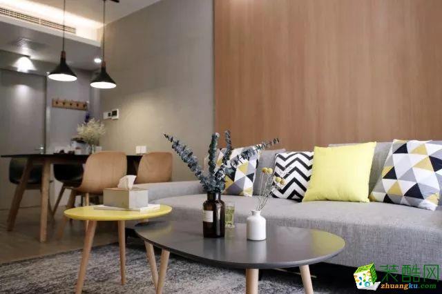 杭州维品国际设计―89方两室两厅简约风格装修效果图