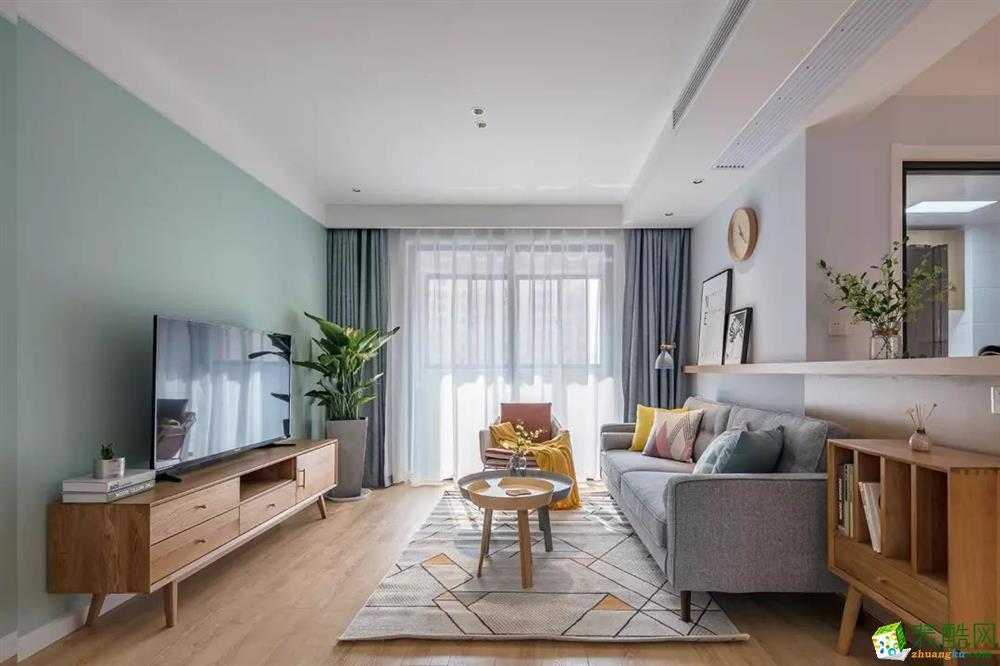 杭州维品国际设计―95方三居室装修设计效果图