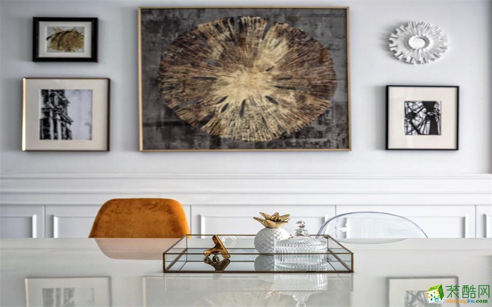 【维艺装饰】沙湖港湾97方三室两厅美式风格装修效果图