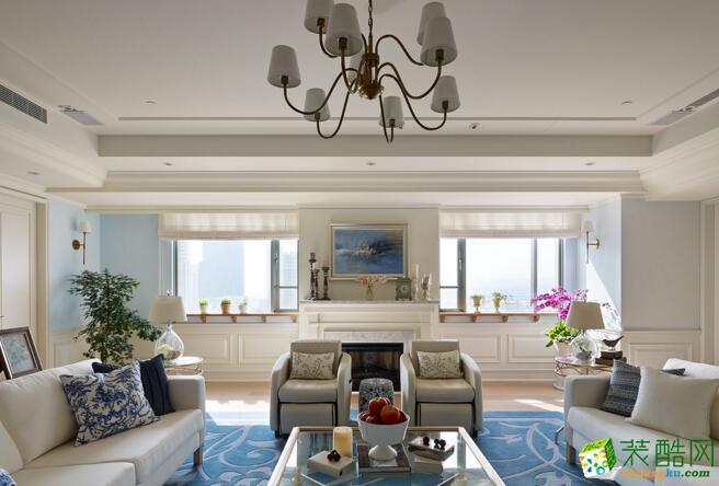 美式风格130平米三室两厅装修效果图--凯旋装饰