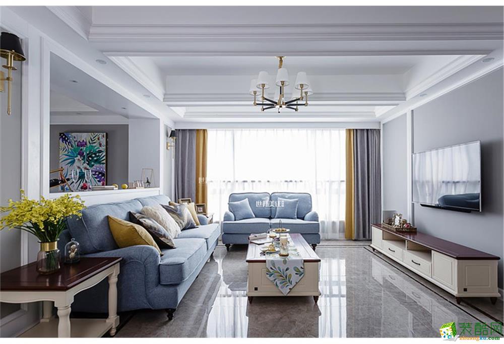 世邦装饰―东新园190方小美风格跃层装修效果图