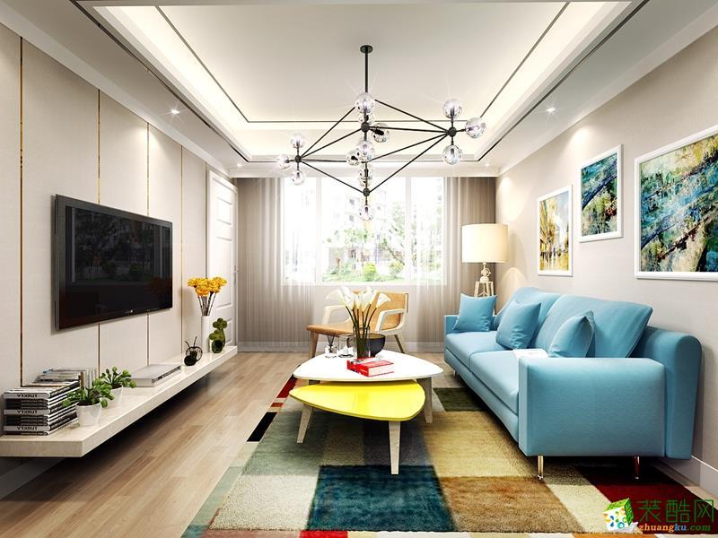 现代风格136平米三室两厅装修实景案例图--业之峰装饰