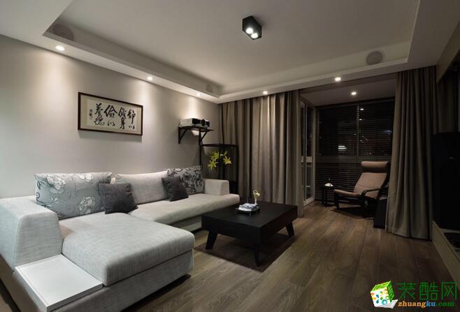 现代小清新风格128平米三室两厅装修效果图--交换空间装饰