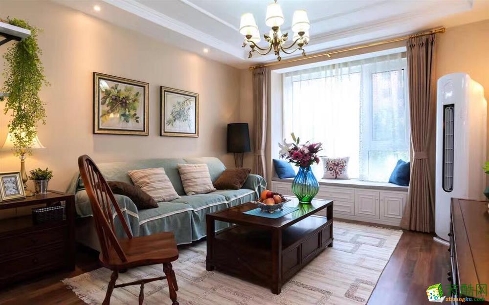 滨海国际二期90平米现代风格两居室装修效果图