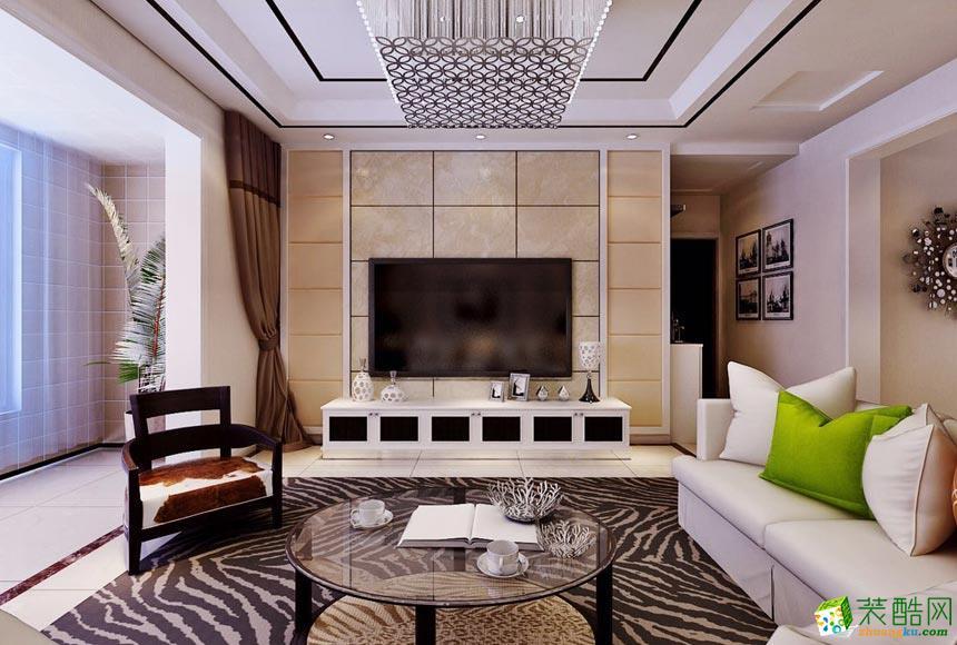华浔品味装饰-现代简约三居室装修效果图