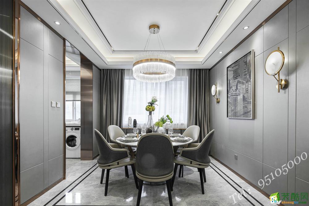 >> 现代轻奢风格220平米四居室装修效果图--艺百年装饰