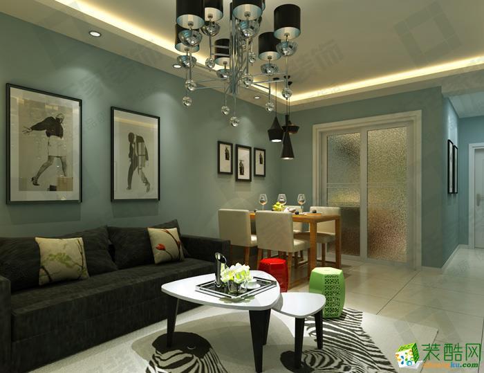 宣城春秋装饰-现代简约两室装修效果图