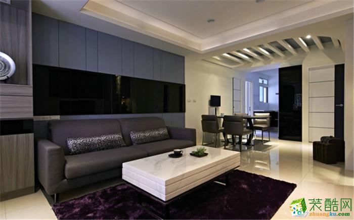 百川装饰―72方现代简约两居室装修设计效果图