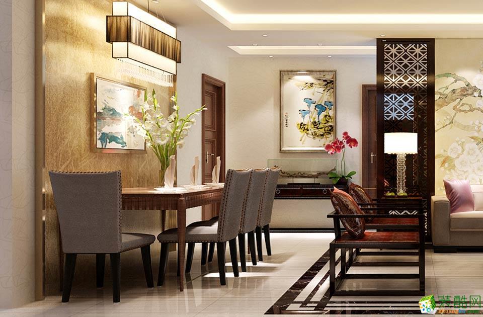 济南泉雅装饰-中式三居室装修效果图