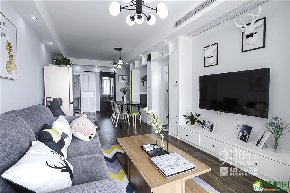 保利清能西海岸-98平北欧风格三居室