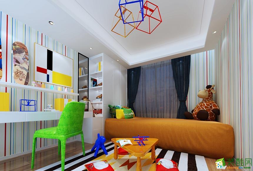 名匠轩装饰-现代简约三居室装修效果图