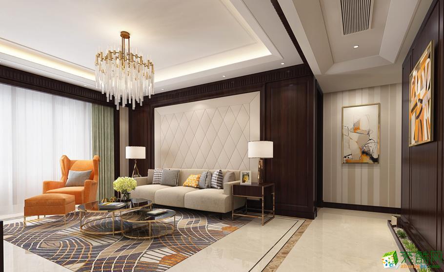 中远两湾城中式风格100平米三室两厅装修效果图--军浩装饰