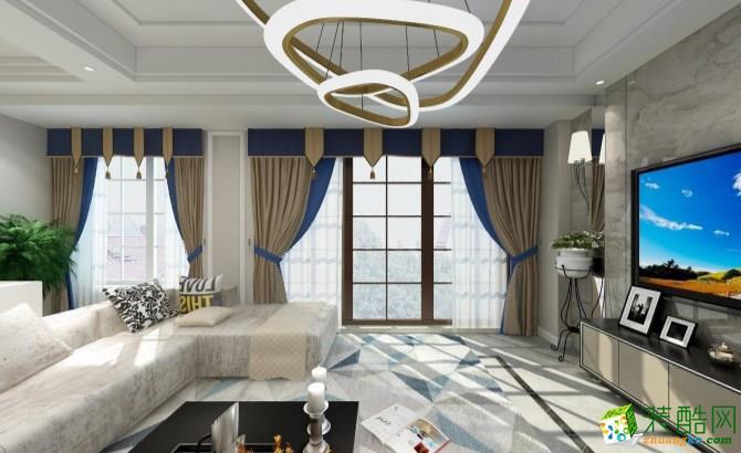 华彩城145平米现代简约风格跃层住宅装修效果图--众信装饰