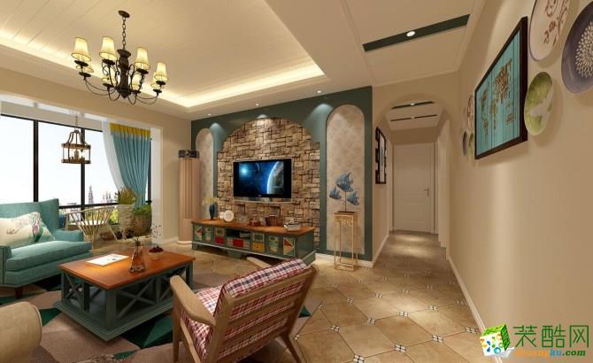 世纪尚品158平米地中海风格四居室装修效果图--众信装饰