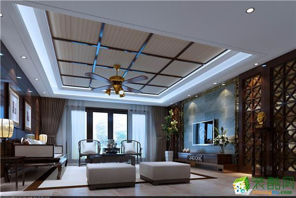 中式风格136平米四居室装修效果图--金煌装饰