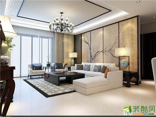 中式风格100平米三室两厅装修效果图--金煌装饰