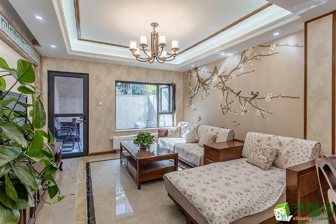 >> 逸翠庄园303平米混搭风格跃层住宅装修效果图--佳天下装饰