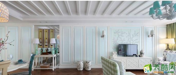 完美装饰-120平简欧风两居室装修效果图