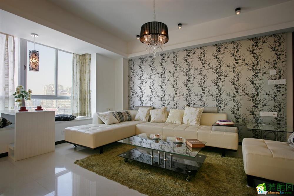 现代简约风格126平米三室两厅效果图--丹尼斯装饰