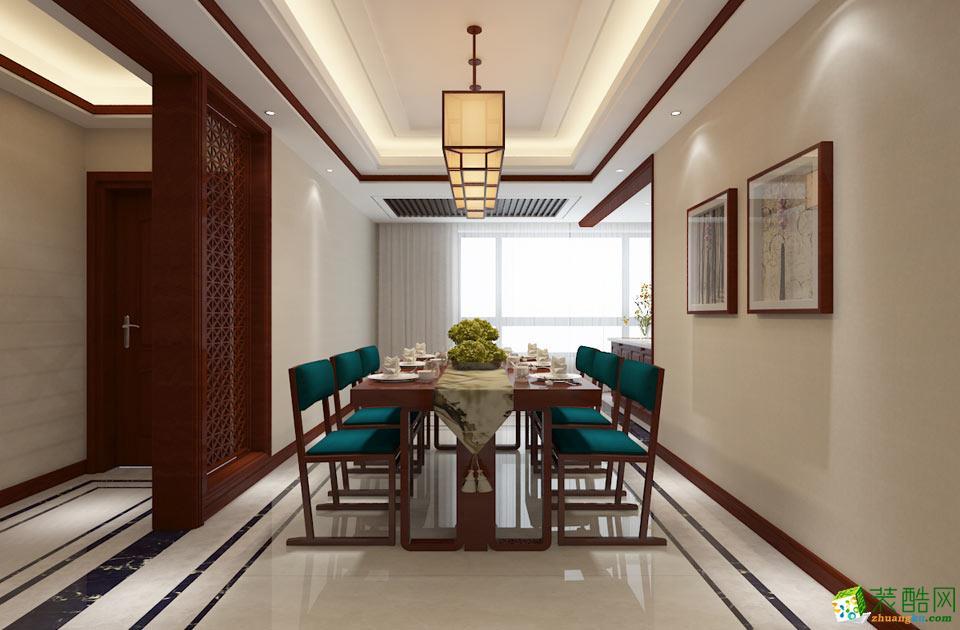 衡阳玉皇装饰-中式三居室装修效果图
