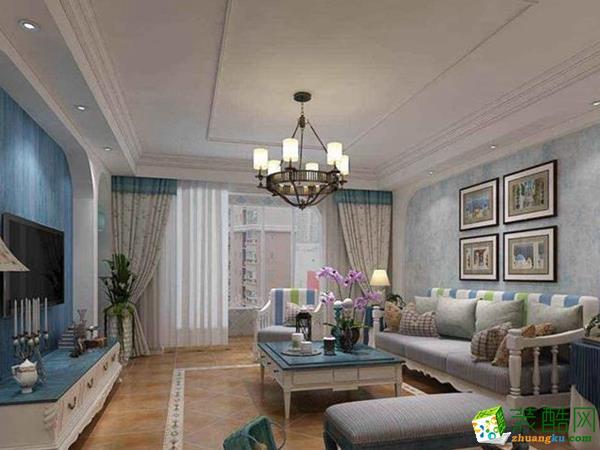 现代风格98平米两室两厅装修效果图--飞虹装饰
