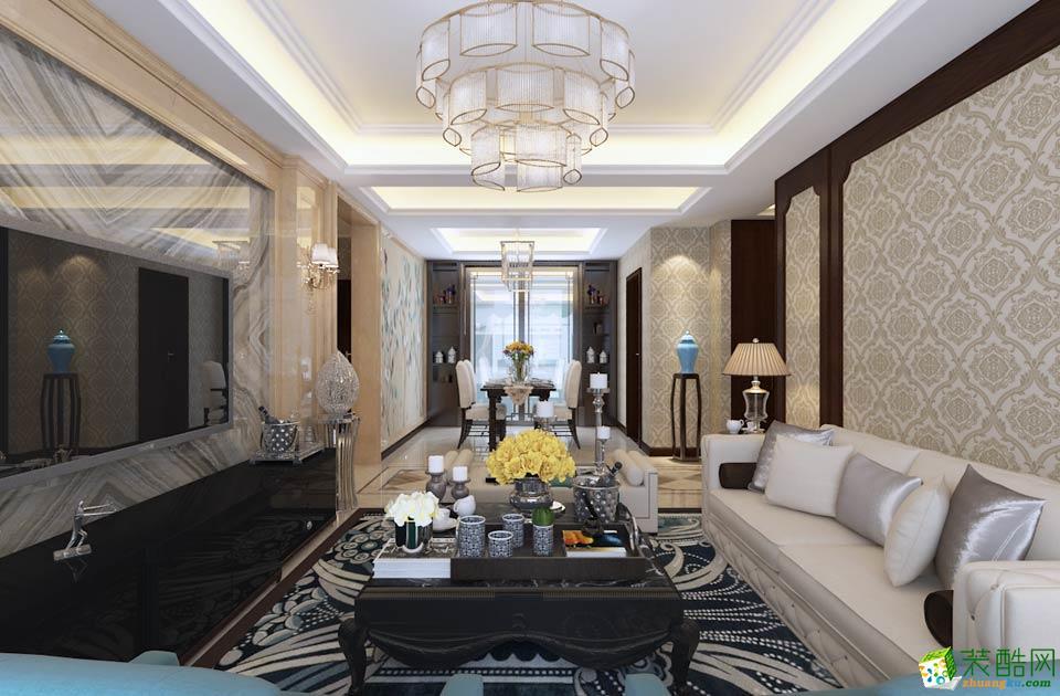 衡阳佳盛装饰-美式三居室装修效果图