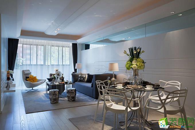 118平米现代简约风格三室两厅效果图--玉玲珑装饰