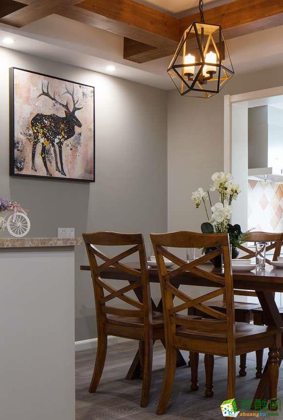 餐厅  太原沐林装饰-美式两居室装修效果图