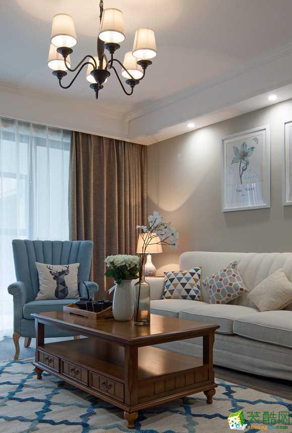客厅  太原沐林装饰-美式两居室装修效果图