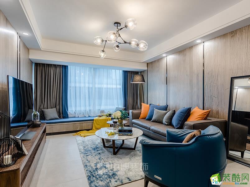 武汉中博装饰―107方现代简约风格三居室装修设计效果图