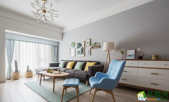 现代简约风格89平米两室两厅装修效果图--嘉仁装饰