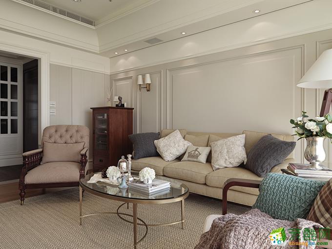 美式风格107平米美式风格两室两厅装修效果图---新创意装饰