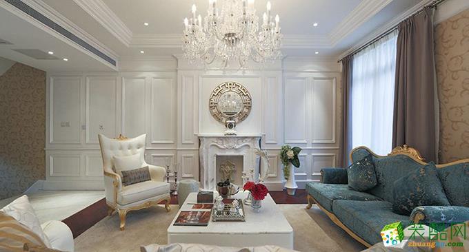 欧式风格135平米三室两厅装修效果图--新创意装饰