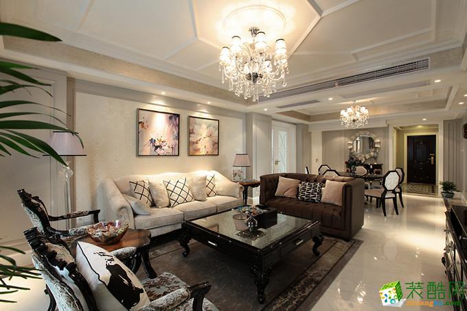 新古典风格三室两厅装修效果图--新创意装饰