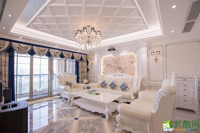 欧式风格245平米四居室装修效果图--新创意装饰