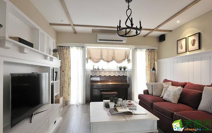 田园风格125平米三室两厅装修效果图--兮川装饰